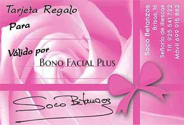 centro de estetica en illescas Tarjeta Regalo Bono Facial Plus