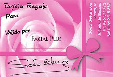 centro de estetica en illescas soco betanzos Tarjeta Regalo Bono Facial Plus