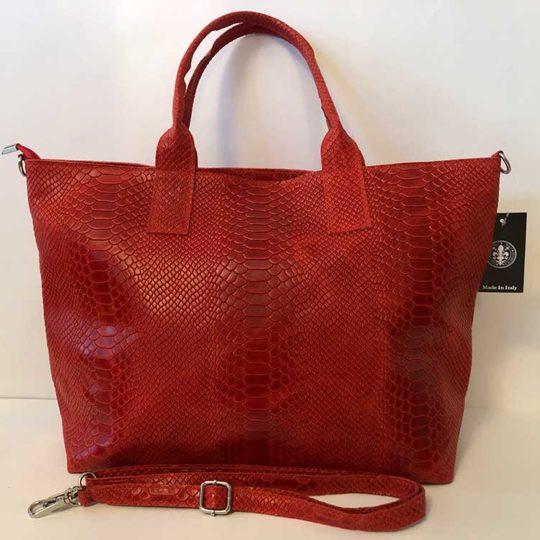 Bolso Cocodrilo Ancho Rojo tienda online bolsos de piel illescas